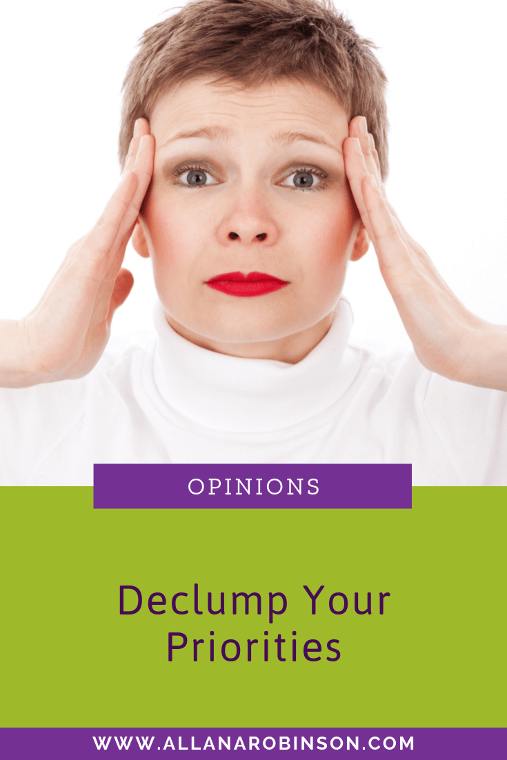 Declump your priorities blog